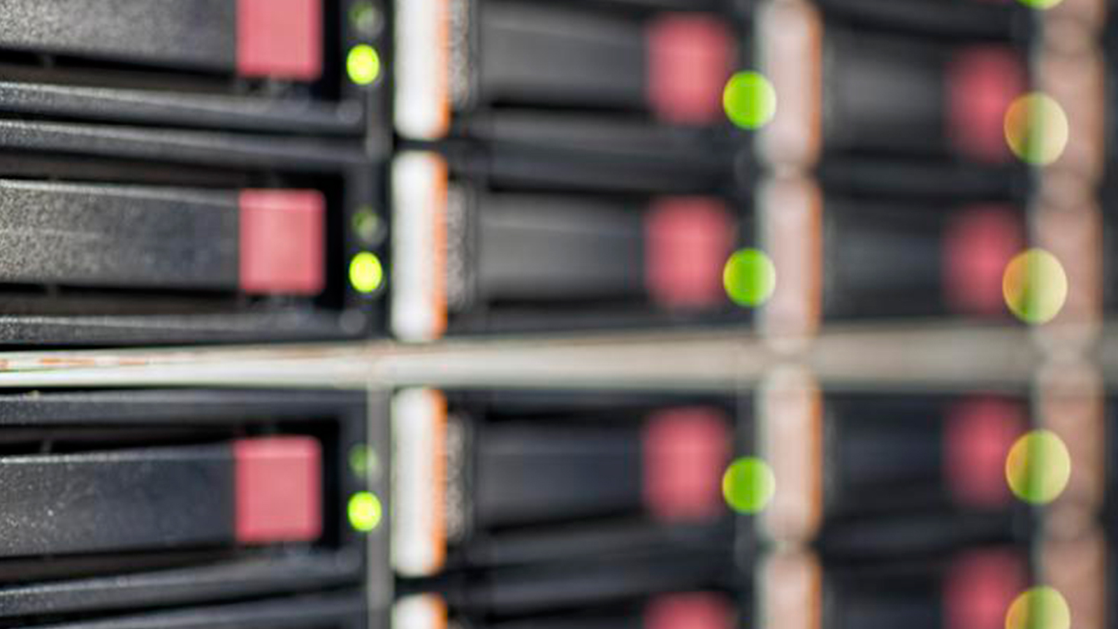 Closeup of an active server rack.